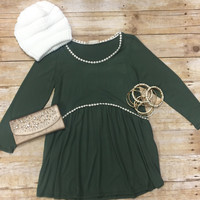 Simple & Sweet Top: Olive