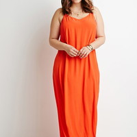Plus Size Side-Slit Maxi Dress