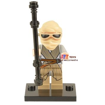 Single Sale star wars superhero Rey The Force Awakens building blocks model bricks toys for children brinquedos menino