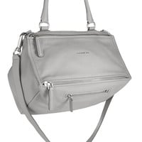 Givenchy - Medium Pandora bag in light-gray textured-leather