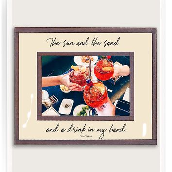 The Sun And The Sand Copper & Glass Photo Frame