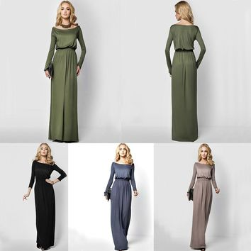GZHOUSE Women Long Maxi Dress Evening Cocktail Party Dresses