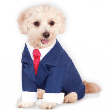 Pawlitical Business Man Navy Blue Suite Dog Costume