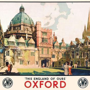 British Railway Travel England Oxford Retro Vintage Kraft Poster Decorative DIY Wall Sticker Home Bar Posters Decoration