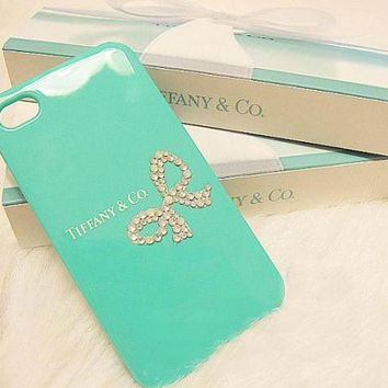 iPhone 5 case Bling Swarovski Crystal iPhone case Rhinestone Tiffany Inspired iPhone Case for iPhone 4 case ,iPhone 4s cases iPhone 5