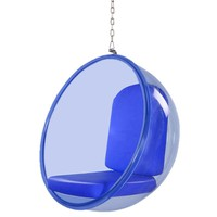 Bubble Hanging Chair Blue Acrylic, Blue