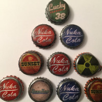 Fallout Inspired -10 Handmade Bottle Caps (Variety Pack A)