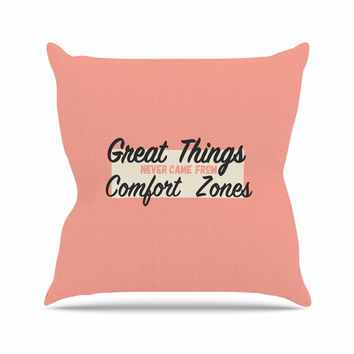 "Juan Paolo ""Great Things"" Digital Vintage Throw Pillow"