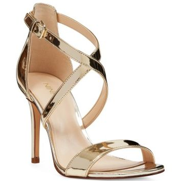 Nine West Mydebut Cross Strap Sandal (Women) | Nordstrom