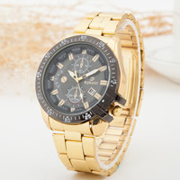 Awesome Good Price Designer's New Arrival Trendy Great Deal Gift Luxury Men Stainless Steel Stylish Quartz Watch (With Thanksgiving&Christmas Gift Box)[6542573443]