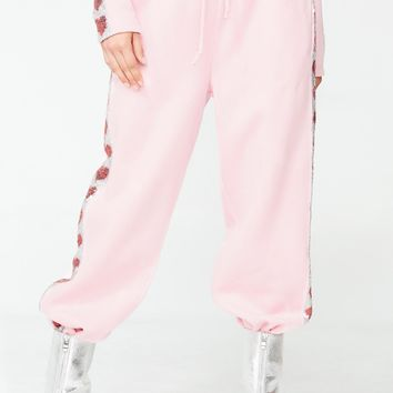 Heart Sequin Sweat Joggers