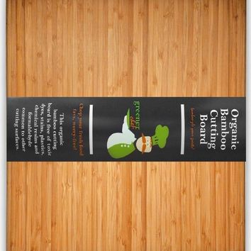 #1 Best ORGANIC Bamboo Wood Cutting & Kitchen Chopping Board with Groove - FD...