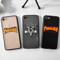 Thrasher Brand Logo Case for iPhone 6s Phone Case Fashion Design Cover for iPhone 6s 6 7 Plus 5 5s SE Coque Fundas Capas Carcasa