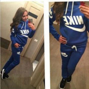 NEW NIKE WOMEN SPORT SUITS TRACKSUITS HOODIES + PANTS