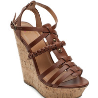 Spine Braid Trim Cork Sandal
