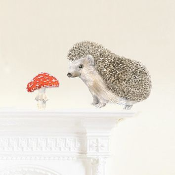Hedgehog Moveable Fabric Wall Decal