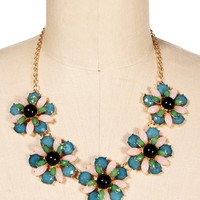 Decadent Multi Flower Necklace