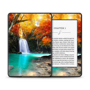 Crystal Blue Waterfall Flowing Into Calm Pool Skin for the Amazon Kindle Tablet