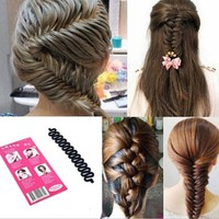 Free Shipping New Fashion French Hair Braiding Tool Roller With Hook Magic Hair Twist Styling#M01072