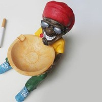 Chic Colorful Polyresin Ashtray