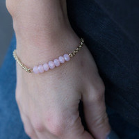 Bead You Now Bracelet, Pink