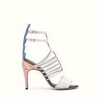FENDI | FASHION SHOW SANDALS in white and crocodile leather