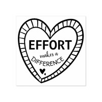 Heart Teachers Effort Makes A Difference Rubber Stamp