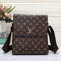 Louis Vuitton LV Men Office Bag Leather Satchel Shoulder Bag Crossbody