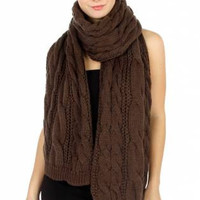 Cable Knit Oversize Shawl/Scarf in 3 Colors