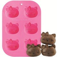 pink Hello Kitty silicone Muffin mold cake mold - Bento Accessories - Bento Boxes