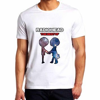 Radiohead The Best Of Album Galaxy Man T-Shirt