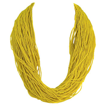 Ivorian Yellow Seed Beads Necklace