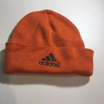 ESBONC. BRAND NEW ADIDAS BURNT ORANGE TRIM KNIT HAT SHIPPING