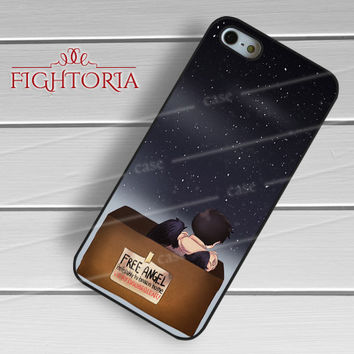 Cas castiel supernatural cute lonely angel -ssrh for iPhone 6S case, iPhone 5s case, iPhone 6 case, iPhone 4S, Samsung S6 Edge