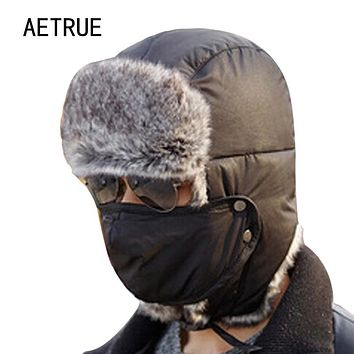 Winter Bomber Hats Men Women Fur Thickened Ear Flaps Winter Hat Earflap Caps Russian Balaclava Bomber Hats For Women Fur New Cap
