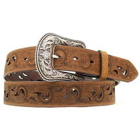 Ariat Paisley Design Cutout Leather Belt - Sheplers