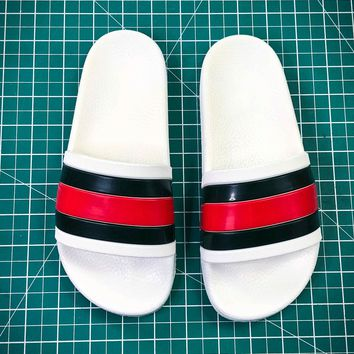 Gucci Leather Slide With Bow Fashion Style 108