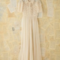 Free People Vintage Sheer Ruffled Maxi Dress