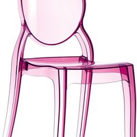 Elizabeth Polycarbonate Dining Chair Transparent Pink (Set of 2)