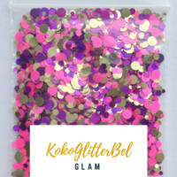 Holographic Glitter Mix Dots - Glam