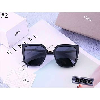 Dior 2019 new women's matte texture driving polarized color film sunglasses #2
