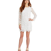 French Connection Nebraska Lace Shift Dress - Summer White