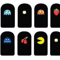 Pacman Nail Decals by IHeartNailArt on Etsy