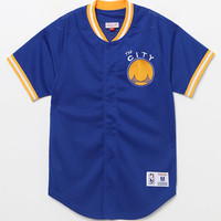 Mitchell & Ness Golden State Warriors NBA Button Up Jersey at PacSun.com