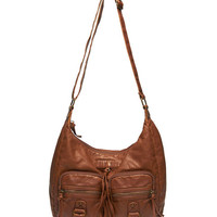Slouchy Faux Leather Hobo Bag | Wet Seal
