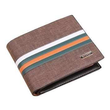 Genuine Leather with PU 11 Card Slots Bifold Wallet For Men