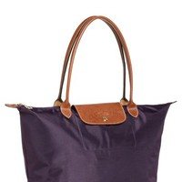 Longchamp 'Large Le Pliage' Tote - Purple