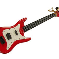 Christmas Ornament - Red Electric Guitar