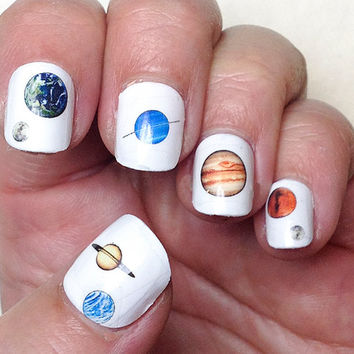 Planet Nail Decals