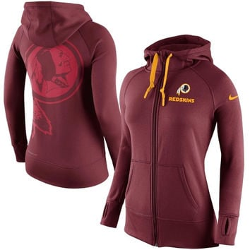 Washington Redskins Nike Womens Warpspeed All Time Full-Zip Performance Hoodie – Burgundy